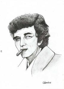 Columbo alias Peter Falke - portrait traditionnel crayon et encre - par kokoreth
